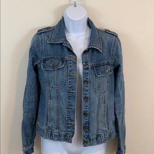 Route 66 Distressed Jean Jacket  Size XS